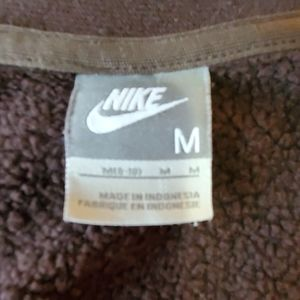 Nike Brown Spell Out Lot Full Zip Hoodie Size Med